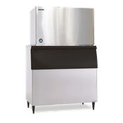 Hoshizaki KM-1301SWH-P Cube-Style Ice Maker, Water-Cooled - Crescent Style Ice Machines