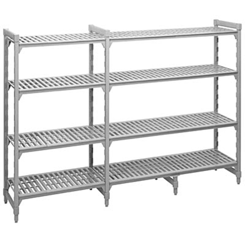 """CAMBRO Camshelving Add-On Unit, 18""""W X 60""""L X 64""""H, Speckled Gray, CSA58606480 at Sears.com"""