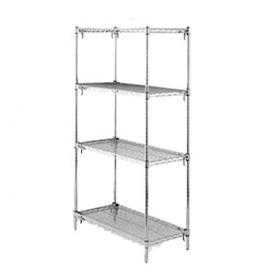 "Metro A546K3 Super Adjustable Super Erecta Starter Shelving Unit 42""W X 24""D X 63""H Wire Shelves"