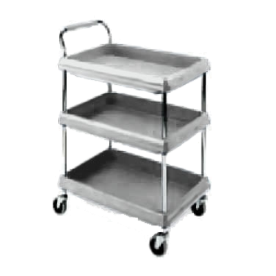 Metro BC2030-3DG Deep Ledge Utility Cart 3-Tier with Open Base