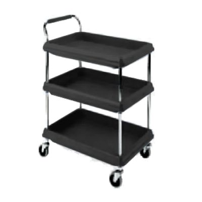 Metro BC2636-3DBL Deep Ledge Utility Cart 3-Tier with Open Base