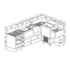 "Perlick Corporation MBS Modular Bar System 6"" Bar Structure Section"