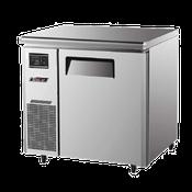 Turbo Air JUR-36 Stainless Steel J Series 1 Door Undercounter Refrigerator - Undercounter Refrigerators