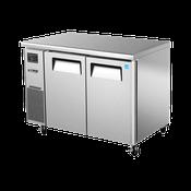 Turbo Air JUR-48 Stainless Steel J Series 2 Door Undercounter Refrigerator - Undercounter Refrigerators