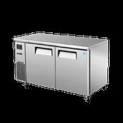 Turbo Air JUR-60 Stainless Steel J Series 2 Door Undercounter Refrigerator - Undercounter Refrigerators