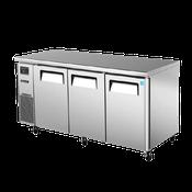 Turbo Air JUR-72 Stainless Steel J Series 3 Door Undercounter Refrigerator - Undercounter Refrigerators