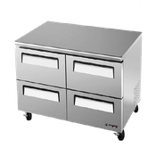 Turbo Air TUR-48SD-D4 12 cu. ft. Super Deluxe Series Undercounter Refrigerator - Undercounter Refrigerators