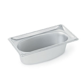 Vollrath 3103040 Super Pan Super Shape Third Size Oval Pan - Third Size Steam Table Pans