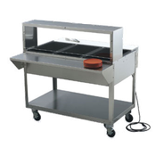 Vollrath 38054 Servewell Single Deck Cafeteria Guard - Vollrath Mobile Serving Equipment