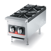 Vollrath 40736 2-Burner Counter Top Gas Hot Plate - Vollrath Warming and Display Equipment