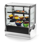 "Vollrath 40865 36"" Cubed Glass Heated Display Cabinet - Vollrath Warming and Display Equipment"
