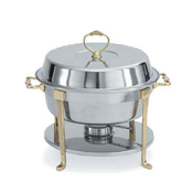Vollrath 46030 Classic Brass Round Chafer - Vollrath Chafers