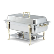 Vollrath 46050 Classic Brass Oblong Chafer - Vollrath Chafers