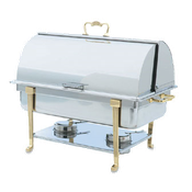 Vollrath 46051 Classic Brass Roll Top Chafer - Vollrath Chafers