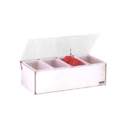 Vollrath 4701 Kondi-Keeper Condiment Dispenser with Standard Lid - Vollrath Bar Supplies