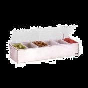 Vollrath 4702 Kondi-Keeper Condiment Dispenser with Standard Lid - Vollrath Bar Supplies