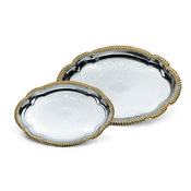 Vollrath 47265 Odyssey Gold Trim Oval Tray - Vollrath Servingware