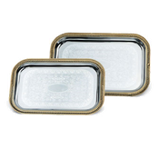 Vollrath 47266 Odyssey Gold Trim Rectangle Tray - Vollrath Servingware