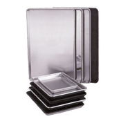 "Vollrath Wear-Ever 5314 Heavy Duty Half Size 13 Gauge Aluminum Bun/Sheet Pan - 17-3/4"" x 12-7/8"" x 1"" - Vollrath Sheet Pans"
