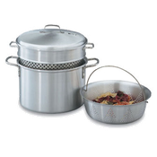Vollrath 68126 Wear Ever Pasta Cooker/Vegetable Steamer - Vollrath Cookware