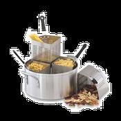 "Vollrath 68129 14"" 18 1/2 Qt. Wear Ever Vegetable / Pasta Cooker Pot Only - Vollrath Cookware"