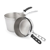 Vollrath 78371 7 Qt. Stainless Steel Tapered Handle Sauce Pan (Case of 4) - Vollrath Cookware