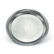 Vollrath 82169 Esquire Round Fluted Tray - Vollrath Servingware