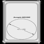 Vollrath 8240614 Miramar Template Plate - Vollrath Steam Table Pans