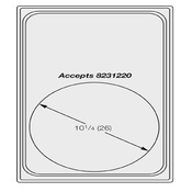 Vollrath 8240616 Miramar Template Plate - Vollrath Steam Table Pans