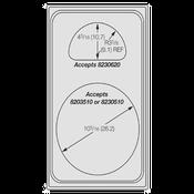 Vollrath 8241414 Miramar Template Plate - Vollrath Steam Table Pans