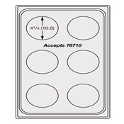 Vollrath 8241916 Miramar Template Plate - Vollrath Steam Table Pans