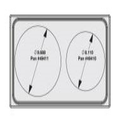 Vollrath 8242016 Miramar Single Size Template - Vollrath Steam Table Pans