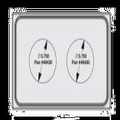 Vollrath 8242214 Miramar Single Size Template - Vollrath Steam Table Pans