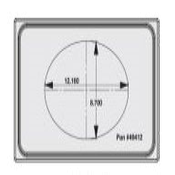 Vollrath 8242314 Miramar Single Size Template - Vollrath Steam Table Pans