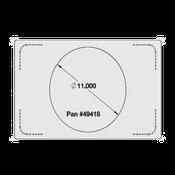 Vollrath 8242614 Miramar Single Size Template - Vollrath Steam Table Pans