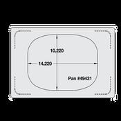 Vollrath 8242714 Miramar Single Size Template - Vollrath Steam Table Pans