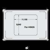 Vollrath 8242816 Miramar Single Size Template - Vollrath Steam Table Pans
