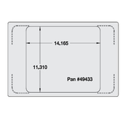 Vollrath 8242914 Miramar Single Size Template - Vollrath Steam Table Pans