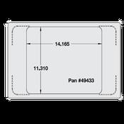Vollrath 8242916 Miramar Single Size Template - Vollrath Steam Table Pans