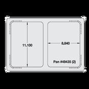Vollrath 8243014 Miramar Single Size Template - Vollrath Steam Table Pans