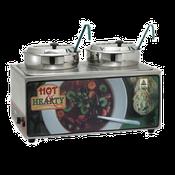Winco ESM-27HNB Soup Merchandise With Two 7Qt Inset - Winco