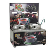 Winco ESM-27KF Soup Merchandise With Two 7Qt Inset - Soup Food Warmers