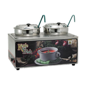 Winco ESM-27KNB Soup Merchandise With Two 7Qt Inset - Soup Food Warmers