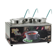 Winco ESM-34KNB Soup Merchandise With Three 4Qt Inset - Soup Food Warmers