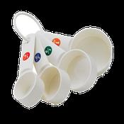 Winco MCPP-4 Plastic Measuring Cups - Winco