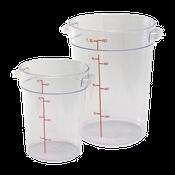 Winco PCRC-6 6Qt Polycarbonate Round Food Storage Container - Winco