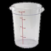 Winco PCRC-8 8Qt Polycarbonate Round Food Storage Container - Winco