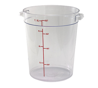 Winco PCRC-8 8Qt Polycarbonate Round Food Storage Container