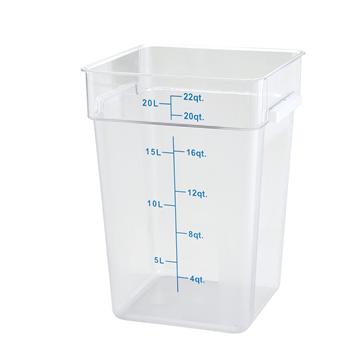 Winco PCSC-22C 22 qt Polycarbonate Square Food Storage Container
