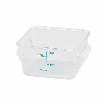 Winco PCSC-2C 2qt Polycarbonate Square Food Storage Container